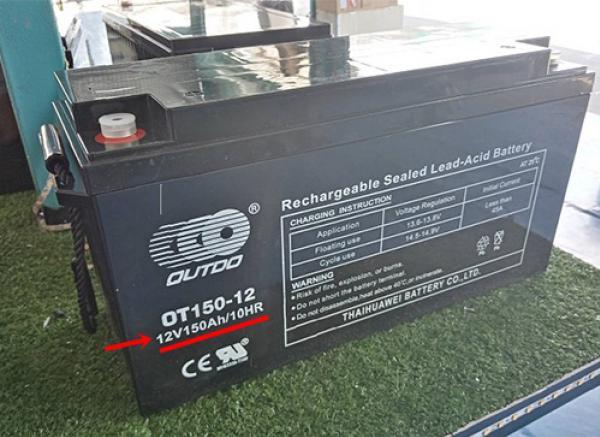 แรงดัน และกระแสของแบตเตอรี่  Deep Cycle Battery ดูตรงไหน